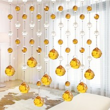 2015 hot sale crystal bead curtains for hotel office or home decor hanging door beads curtain christmas