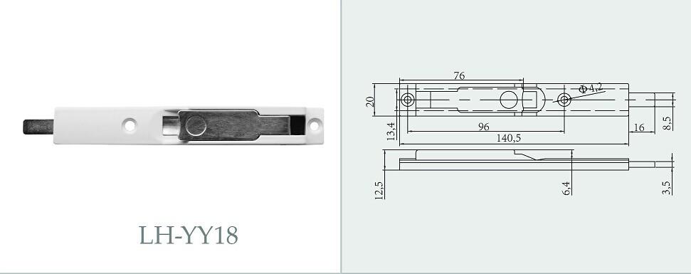 pvc porte coulissante serrure doigt bolt flush serrures p ne loquet de verrouillage pour. Black Bedroom Furniture Sets. Home Design Ideas