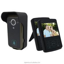 """2.4G 3.5"""" 1 Camera & 2 Monitors Door Phone Wireless Video Door Bell"""