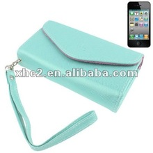 Mobile Phone PU Case / Carry Bag for iPhone 4 & 4S , Size: 13.5 x 7.5 x 3cm (Blue)