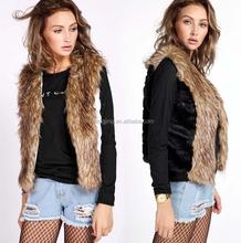 2015 Warm Winter Elegant Women Fahion Real Fox Fur Waistcoat and Rabbit Fur Vest