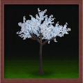 led decoración de la boda de navidad artificiales falsos de la planta de la flor con la luz led de color blanco de flor de cerezo del árbol de la luz del jardín