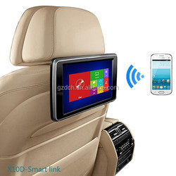 10.1 inch Airplay Miracast Capacitive Touch Screen auto dvd headrest RMVB+GAMES+IR+FM+SD +USB WS-X10D