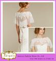Appliques nouvelle conception de Hotsale Tulle dentelle hors-la-épaule court sexy Bolero Vestes pour robes de soirée (QU0733)