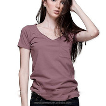 Wholesale Top Fashion Cheap Womens Pure color T Shirt