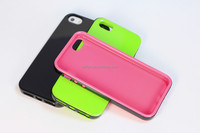 For iPhone 5g 5s hybrid solid color back tpu+pc bumper mobile phone case