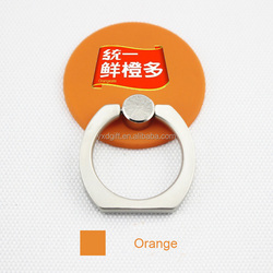 Newest type of Colorful zinc alloy ring holder Round-shape phone holder Reusable ring holder