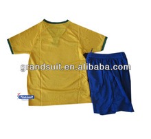 World cup 2014 soccer kit original thai quality kid shirt Brazil, Argentina, Mexico, C football grade origin kid uniforms