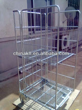folding steel storage cage/wire container