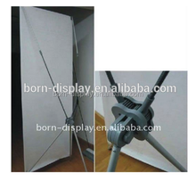 Cheap Strong Plastic Poles and Hooks Single Graphic Display 60*160CM Ukuran X Banner with Lockable