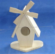 Natural handmade wholesale small wood craft bird house model