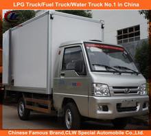 Foton 3 ton mini box cargo truck 4*2 box refrigerate truck for cargo transport