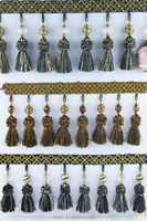 fabric edging fringe wholesale,curtain tassel lace