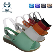 fancy beautiful girls sandals open toe low heel shoes