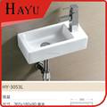 Hy-3053l fregadero de cerámica moderna plaza de cuarto de baño