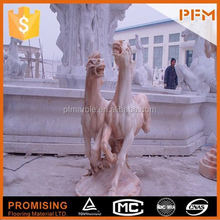 2014 PFM hot sale natural beautiful hand carved marble angel statue with wings