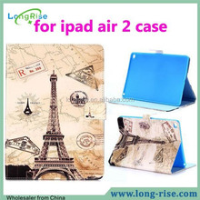 Best Price for ipad air 2 case, Eiffel Tower Flip Leather Cover Case for ipad air 2