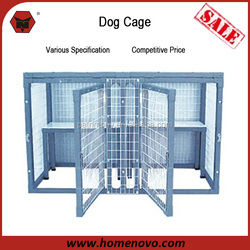 "Double Protection Removable 44""Wx26""Hx22""D Metal Galvanized Dog Kennel With Two Shelves"