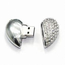 New products Factory Price and wholesale female usb flash drive 32GB, diamond heart usb flash drive