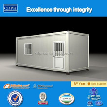 Hot sale low cost panelized house, Galvanized steel structure house, 20ft shipping contaner house