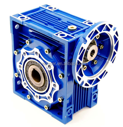 High quality worm gear speed reducer in an all aluminum heat sinking designed housing with epoxy coating