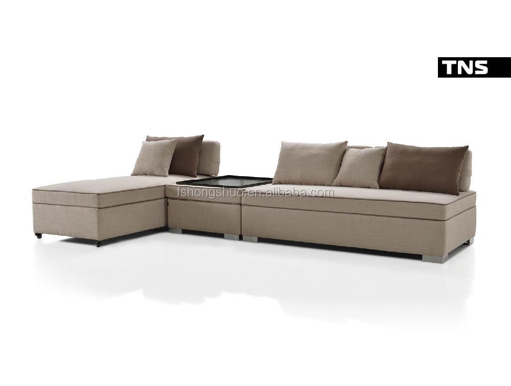 leisure style household furniture armless sofa