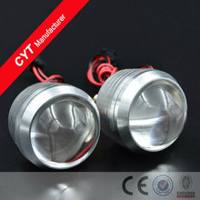12V DIY LED Big Convex Mirror Motorcycle Flashing Tail Lights Warning light Emergency Lamp