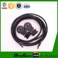 high quality customized cheap reflective athletic elastic cord shoelaces with stopper