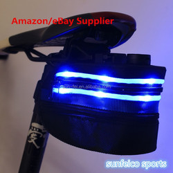 2015 Hot Sale Led Flashing Safety Bicycle Bag/Led Flashing Bicycle trunk Bags/Bike Bags & Panniers/LED bicycle trunk bag