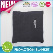 Make your own brand logo as promotion gifts polar fleece pillow blanket