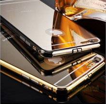Mirror case metal case for iphone 6 24k metal hard cover