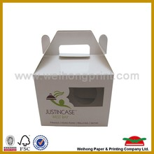 recycled food container , lunch box with handle, fast food box