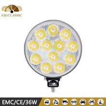 5INCH 36w round 4x4 led tractor husky led work light for vehicles, 12V 24V good quality of led 36W working light used for 4X4