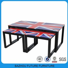 Canton Fair hot sale items top glass modern design coffee table/side table