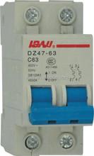 C45 2p 40A miniature circuit breaker/415v mcb