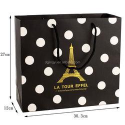 Christmas ornament black spot shopping paper bag/folding shopping bag
