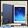 various candy color leather case, belt clip case for ipad mini with 2 folded