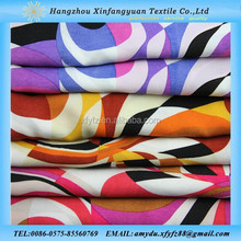 Hawaii sytle 100% printed viscose fabric for dresses