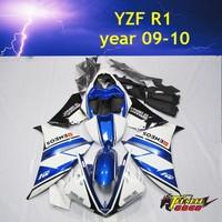 Customized Motorcycle fairingkits for YAMAHA YZF R1 year 09 10