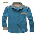 homem de ferro não slim fit business casual camisa de veludo