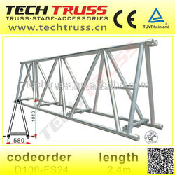 D100-FS24 Specially Aluminum Truss For Indoor And Outdoor Performance Events , Aluminum Finish Line Truss,Aluminum Roof Truss