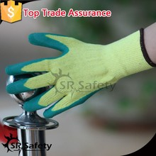 SRSAFETY 10G Knitted Polycotton Liner Coated Latex Gloves/Work gloves for sale/safety equipment of gloves