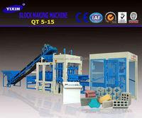 concrete blocks making machine automatic block machine QT5-15 hollow block making machine