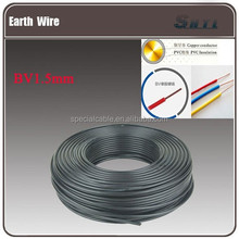 Electrical earth wire 1.5 sqmm,earth cabling1.5mm earth wiring