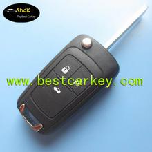Topbest 3 buttons color key blank for chevrolet cruze key folding car key