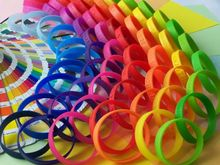 silicone rainbows loom bracelet/mini rubber band with smell