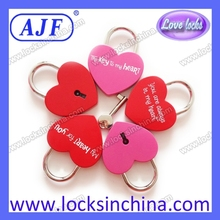 AJF Colorful love heart locker for 2015 valentines day