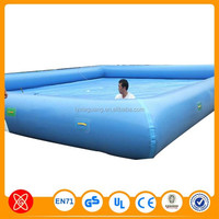 Hard plastic inflatable swimming pool with tent
