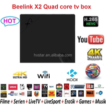 Newest Beelink tv box X2 1G/8G H3 Quad Core Android 4.4 Media Player Support Miracast/DLNA X2 smart tv set top box