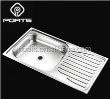 PS-375A,Rv ambry yacht for 304 stainless steel sink 10 cm depth ultra shallow basin single slot plate with drop.780X430X100mm